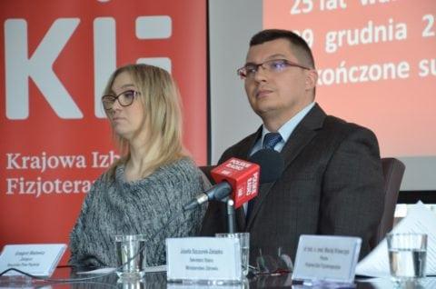 Kamila Górniak, współzałożycielka Fundacja SMA oraz Grzegorz Błażewicz, z-ca Rzecznika Praw Pacjenta