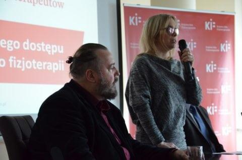Dariusz Gnatowski, współzałożyciel fundacji Wstańmy Razem Aktywna Rehabilitacja oraz Kamila Górniak, współzałożycielka Fundacja SMA